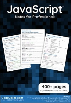Book cover: JavaScript Hints & Tips for professionals