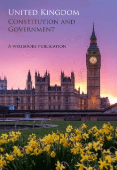 Book cover: Constitution & Government of United Kingdom