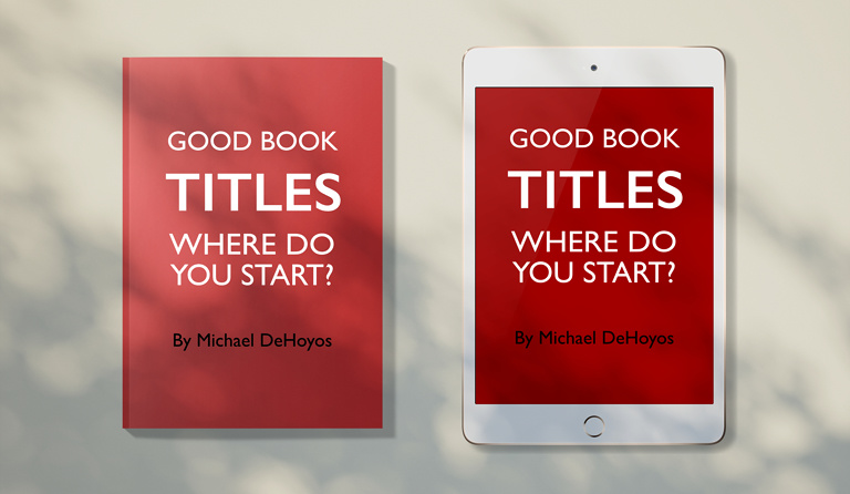 Printed book and ebook version on iPad side-by-side